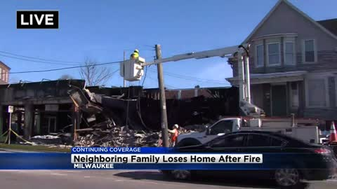 Furniture store fire displaces neighbors
